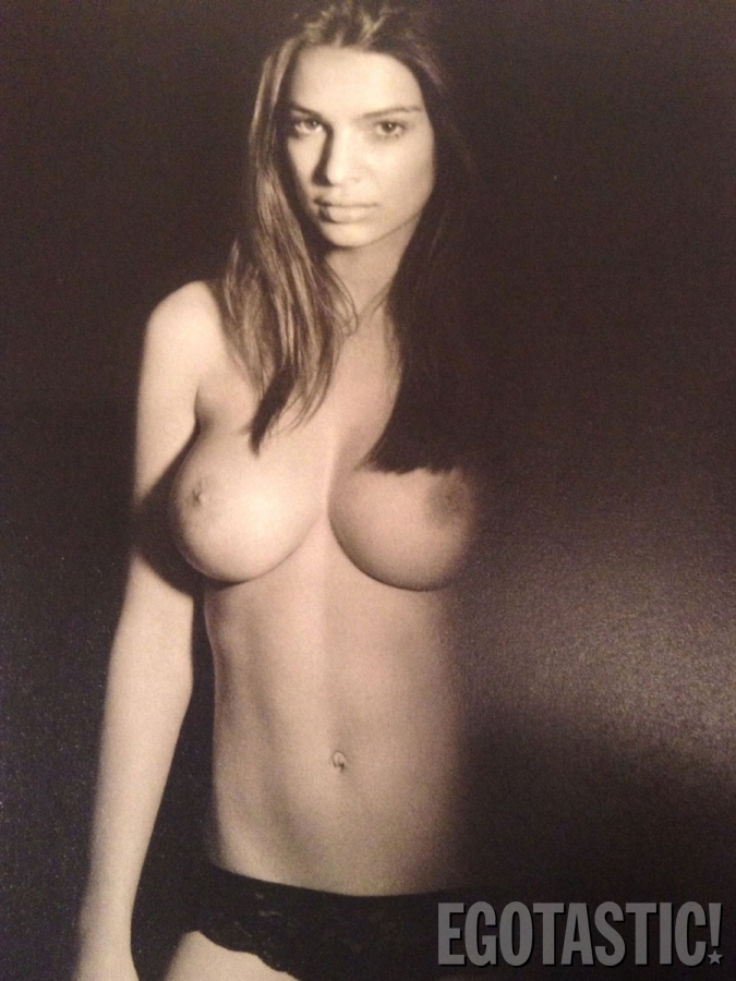 Emily Ratajkowski Topless Shoot By John Urbano