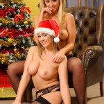 jodie-gasson-and-melissa-debling-topless-christmas-photoshoot-02