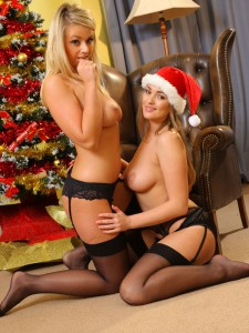 jodie-gasson-and-melissa-debling-topless-christmas-photoshoot-07
