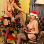 jodie-gasson-and-melissa-debling-topless-christmas-photoshoot-08